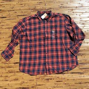 Foundry Men's Plaid Checks Flannel 3XL 3XLT 4XL